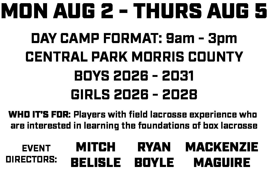 Box Lacrosse Info