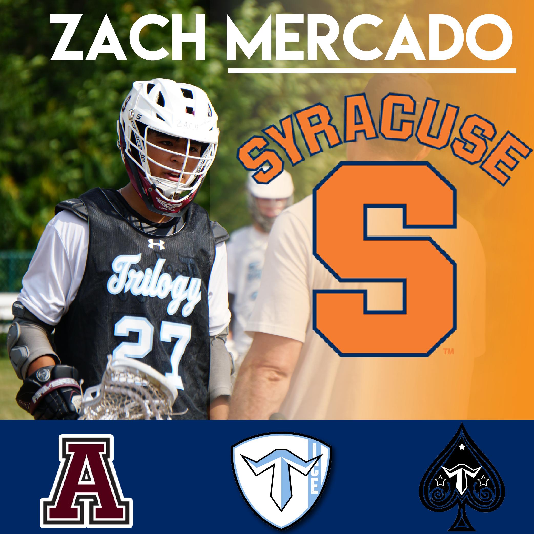 Zach Mercado Syracuse Lacrosse