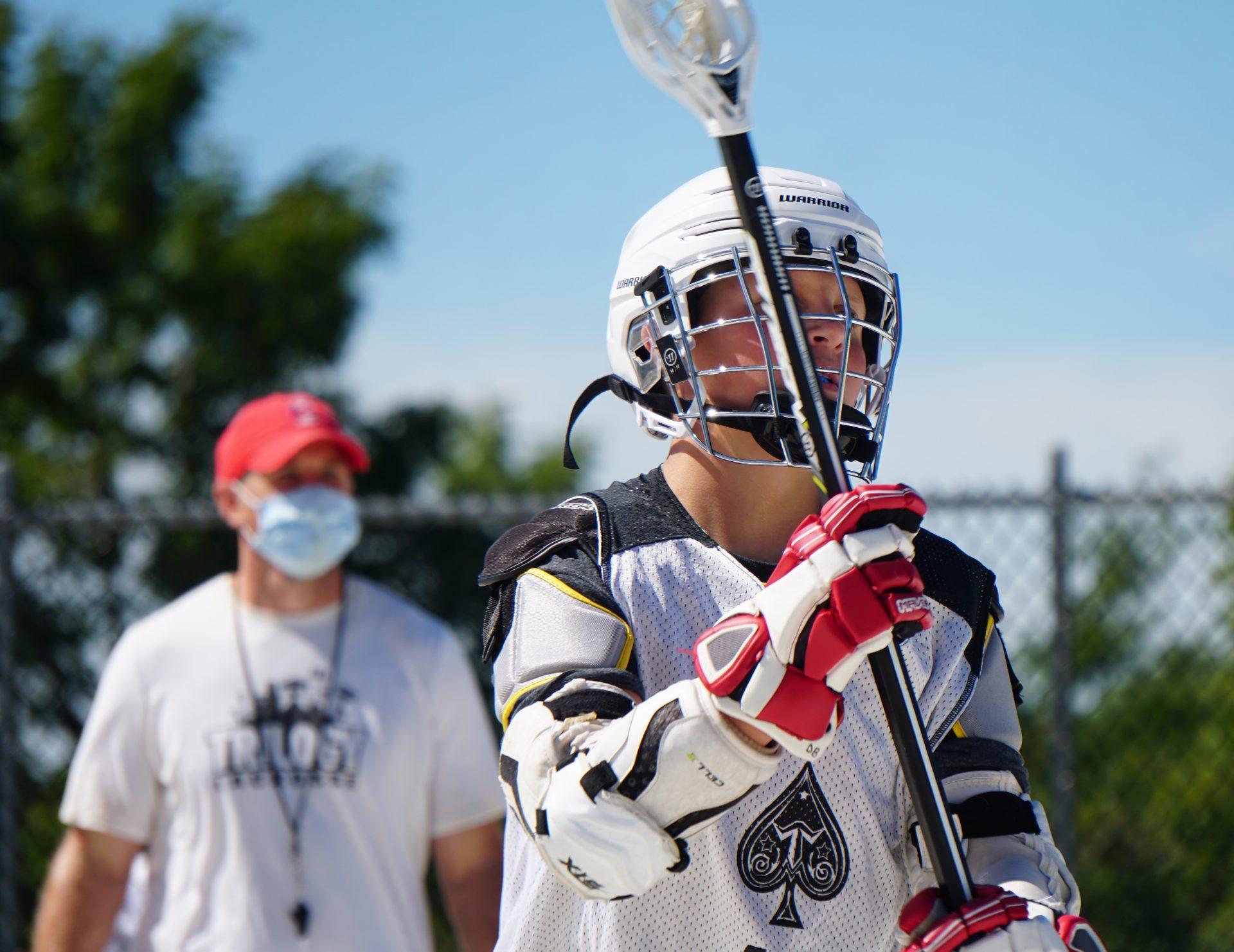 Box Lacrosse Player Passing