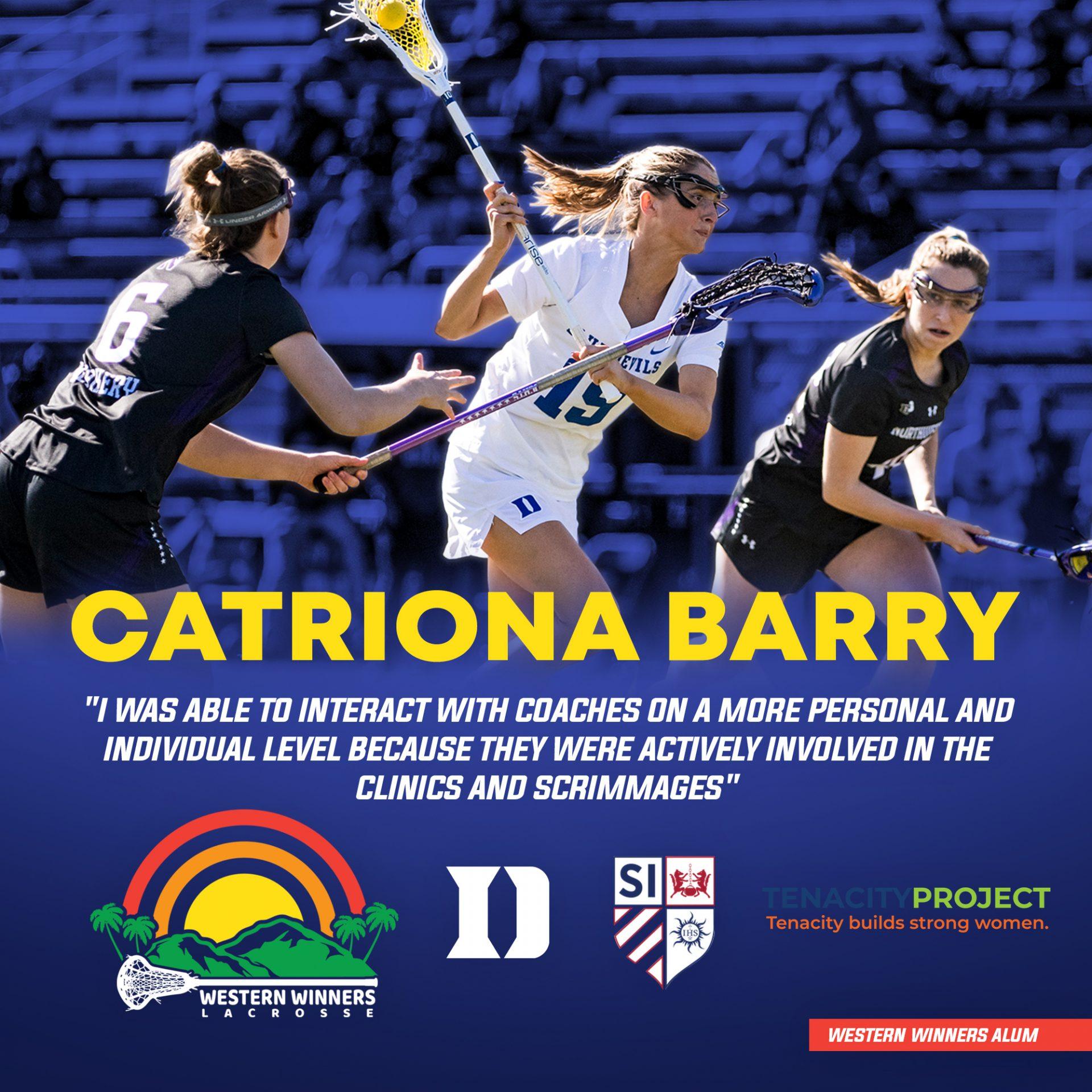 Women of Western Winners: Catriona Barry